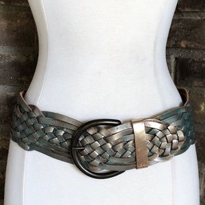 Express Belt S Leather Wide Braided Woven